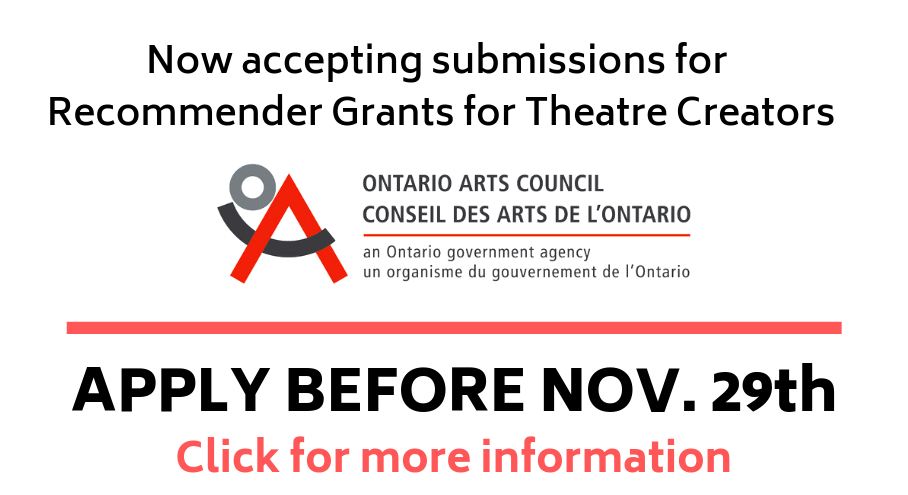 Recommender Grants for Theatre Creators